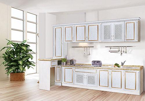 厨房整体全铝橱柜装修效果图-安阳沃莱美全铝家居-全铝家居加盟代理,全铝橱柜加盟代理,全铝家具家装装修就来沃莱美!