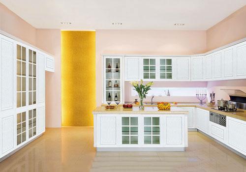 厨房柜全铝橱柜效果图-安阳沃莱美全铝家居-全铝家居加盟代理,全铝橱柜加盟代理,全铝家具家装装修就来沃莱美!
